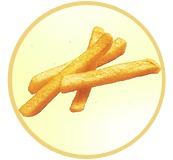 French fries 3/8